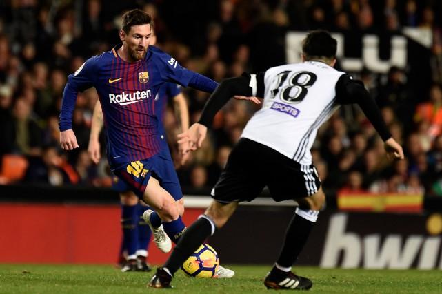 Le Barça a préservé in extremis son invincibilité... (PHOTO AFP)
