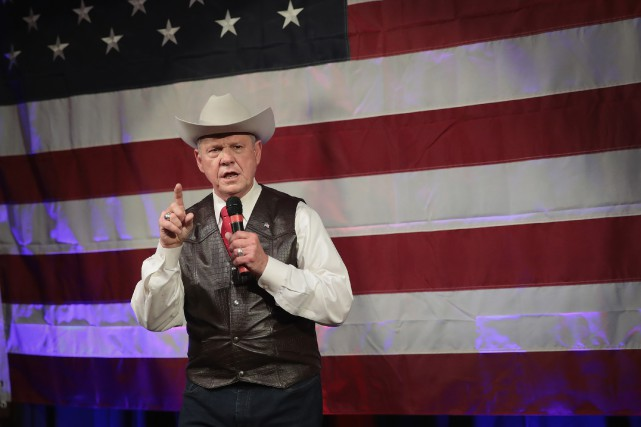 Le républicain Roy Moore était le favori de... (PHOTO AFP)