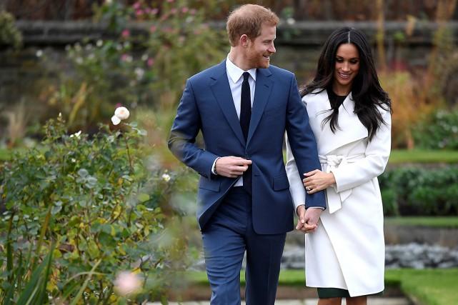 Le prince Harry et sa fiancée Meghan Markle... (Photo Toby Melville, REUTERS)