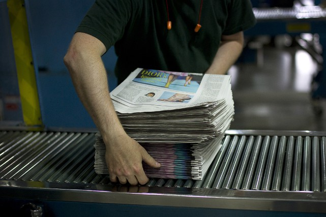 Postmedia prévoit supprimer 244 emplois lors de la... (Photo archives Bloomberg)