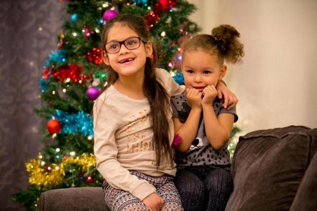 Iza Shanté et sa petite soeur Dasha Michelle... (Photo David Boily, La Presse)