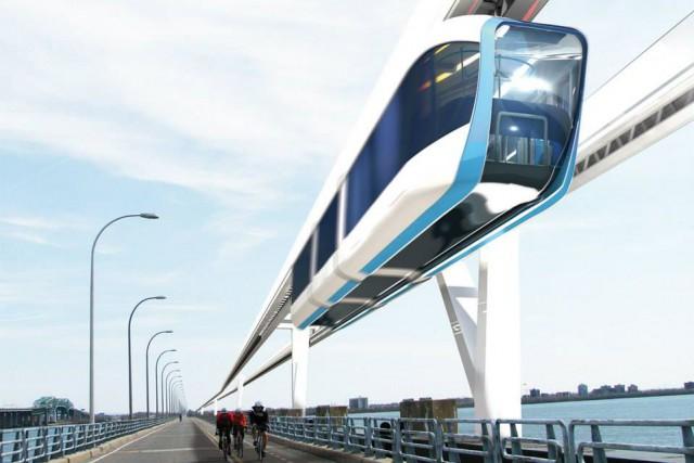 Le premier tronçon d'environ 250kilomètres du Monorail à... (PHOTO FOURNIE PARLA COOPÉRATIVE DE SOLIDARITÉ DU MONORAIL À GRANDE VITESSE)