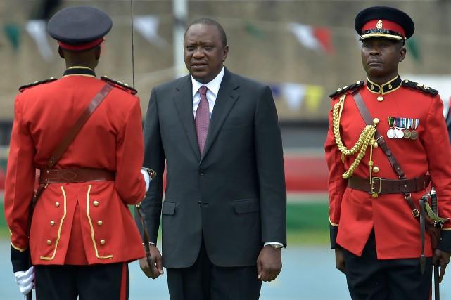Le président kényan Uhuru Kenyatta... (PHOTO AFP)