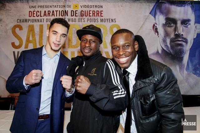 Les boxeurs Steven Butler, Custio Clayton et Yves... (Photo Alain Roberge, La Presse)
