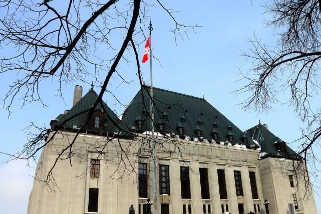 L'édifice de la Cour suprême du Canada, à... (La Voix de l'Est Le Droit)