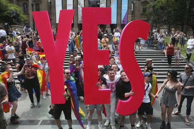 Le résultat du vote consultatif publié par les... (PHOTO David Crosling, AP)
