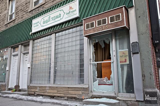 La mosquée Tawuba, à Montréal, a été vandalisée... (PATRICK SANFAÇON, ARCHIVES LA PRESSE)