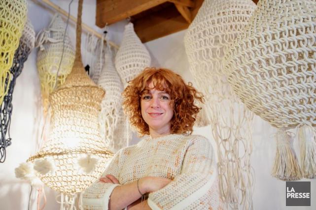 Le design textile fait à la main, c'est... (Photo Alain Roberge, La Presse)