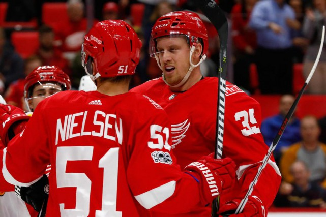 Anthony Mantha (39) a marqué un seul but... (Photo Rick Osentoski, USA TODAY Sports)