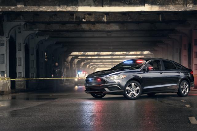 La Ford Fusion hybride de police ne sera... (Photo Ford)