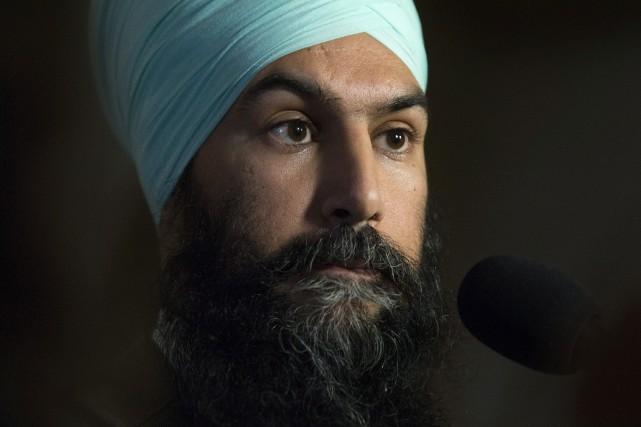 Le chef du NPD Jagmeet Singh... (PHOTO Adrian Wyld, LA PRESSE CANADIENNE)