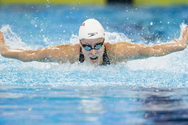 La nageuse Katherine Savard a remporté le prix... (PHOTO ARCHIVES LA PRESSE CANADIENNE)