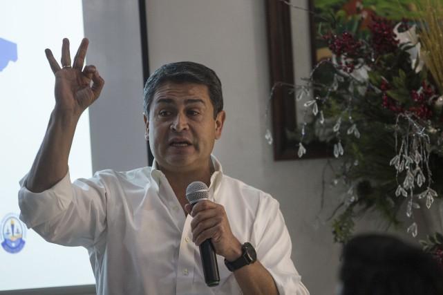Juan Orlando Hernandez... (PHOTO RODRIGO ABD, ARCHIVES ASSOCIATED PRESS)