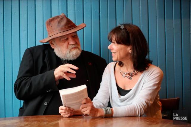 Serge Bouchard et sa conjointe, Marie-Christine Lévesque... (Photo Martin Chamberland, La Presse)