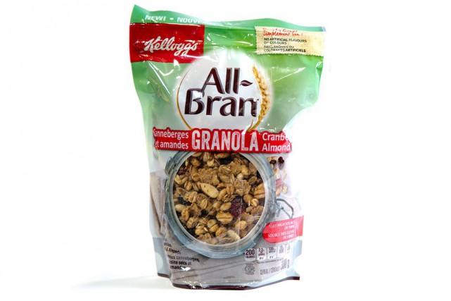 Granola canneberges et amandes All-Bran... (Photo François Roy, La Presse)