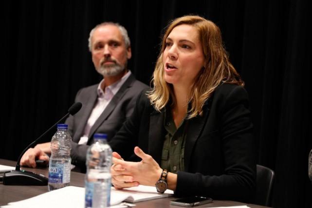 Conférence de presse à l'occasion du lancement d'une... (Photo Martin Chamberland, La Presse)