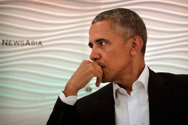 Interrogé sur l'appétence de son successeur Donald Trump... (PHOTO MANISH SWARUP, ASSOCIATED PRESS)
