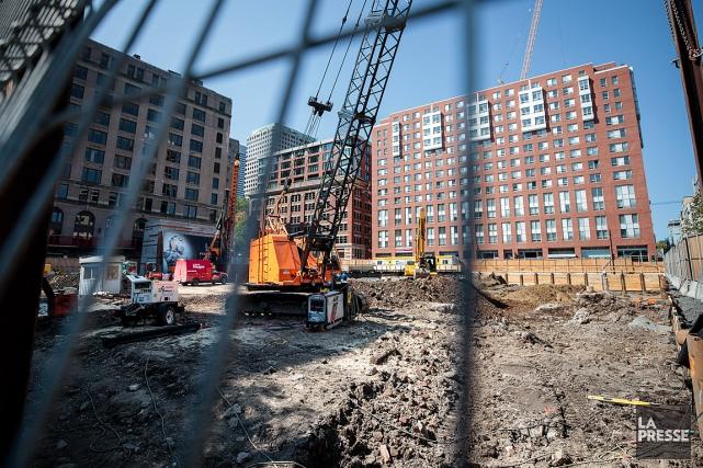 Le secteur de la construction a enregistré une... (PHOTO HUGO-SÉBASTIEN AUBERT, ARCHIVES LA PRESSE)