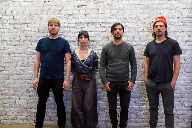 De gauche à droite:Joe Grass, Sarah Pagé, Misha... (Photo André Pichette, La Presse)
