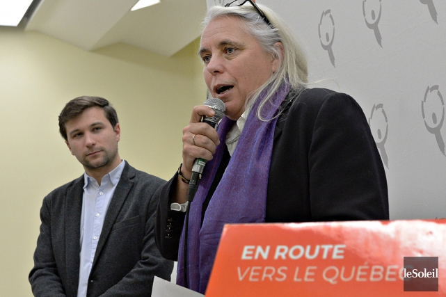 Les co-porte-parole de Québec solidaire, Manon Massé et... (PHOTO PASCAL RATTHÉ, ARCHIVES LE SOLEIL)