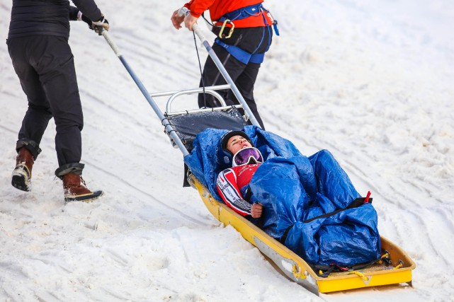 À Lake Louise, la skieuse Marie-Michèle Gagnon a... (Photo Sergei Belski, USA TODAY Sports)