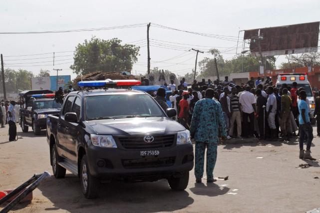 Un double attentat-suicide dans un marché samedi matin dans le nord-est du... (PHOTO AFP)