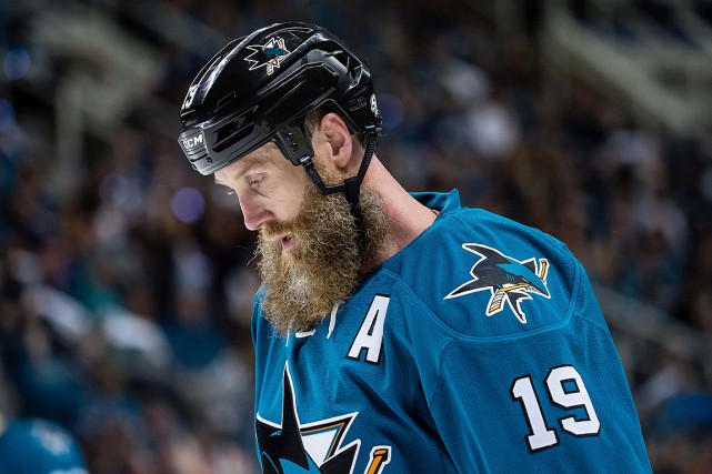 Joe Thornton... (PHOTO KELLEY L COX, ARCHIVES USA TODAY)