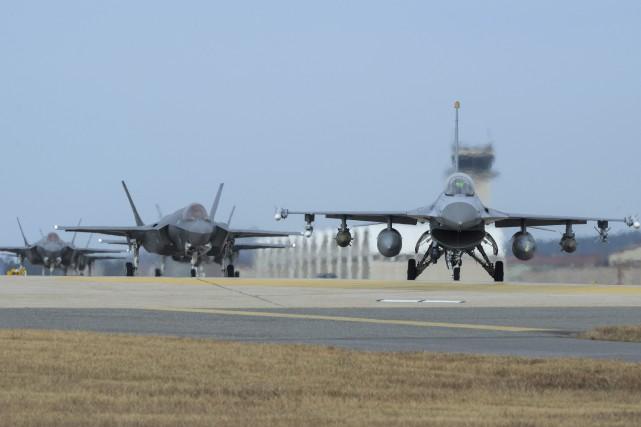 L'exercice Vigilant Ace, qui concerne environ 230 avions,... (Photo AP)