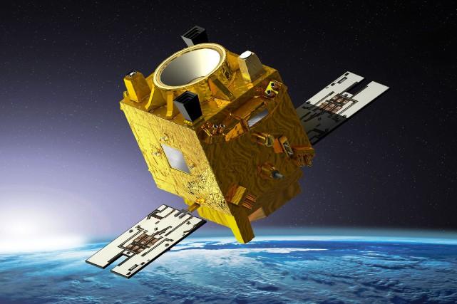 Une représentation artistique du satellite Microscope.... (Photo Agence France-Presse/CNES)