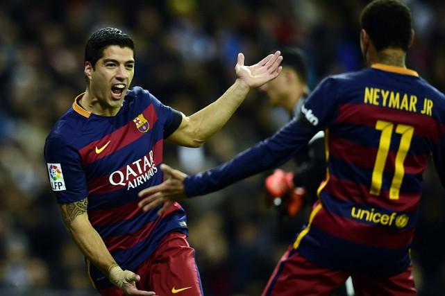 Luis Suarez et Neymaront joué trois saisons ensemble... (PHOTO JAVIER SORIANO, ARCHIVES AGENCE FRANCE-PRESSE)