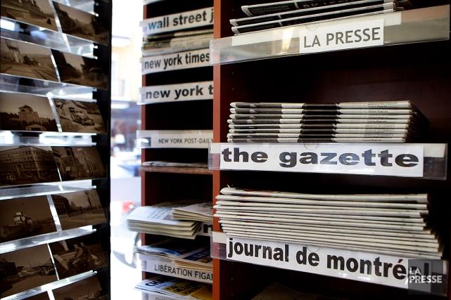Sur cette photo de 2014, des journaux montréalais... (SARAH MONGEAU-BIRKETT, ARCHIVES LA PRESSE)