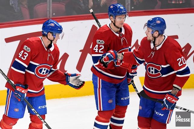 Le quatrième trio du Canadien s'est illustré contre... (PHOTO BERNARD BRAULT, LA PRESSE)