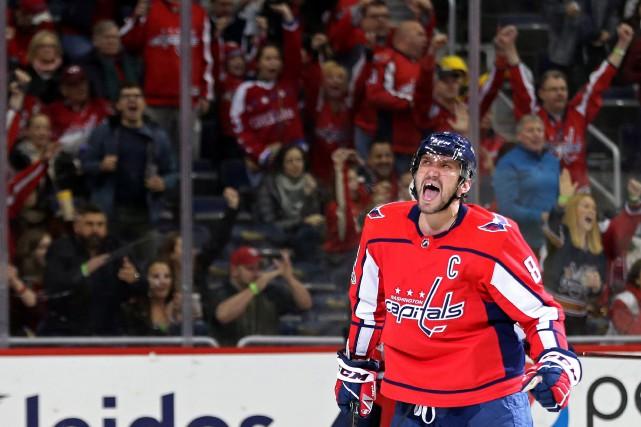 Alexander Ovechkin a réussi un 20e but et les Capitals de Washington ont battu... (PHOTO REUTERS)