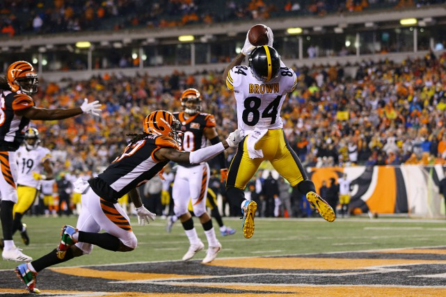 Antonio Brown (84), des Steelers de Pittsburgh, a... (Photo Aaron Doster, USA Today Sports)
