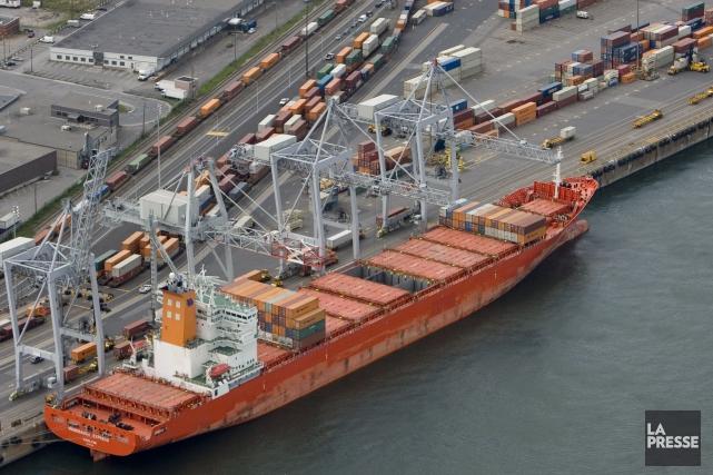 Les exportations à destination des États-Unis ont augmenté... (Photo David Boily, archives La Presse)