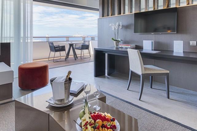 Une suite exécutive au Cap d'Antibes Beach Hotel.... (CAPTURE D'ÉCRAN)