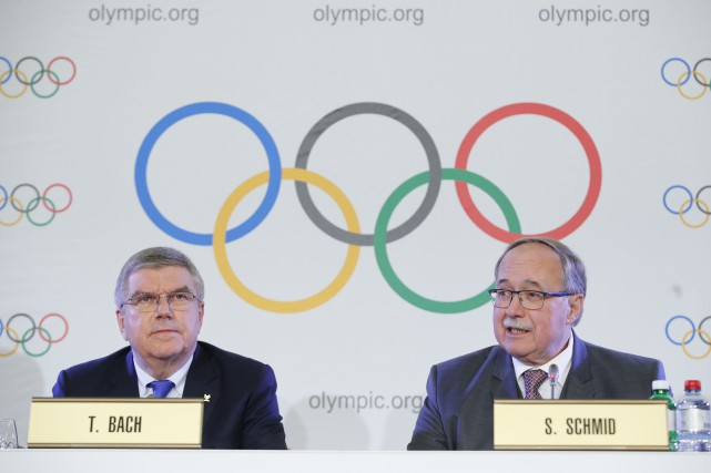 Le président du Comité international olympique, Thomas Bach,... (Photo Denis Balibouse, Reuters)