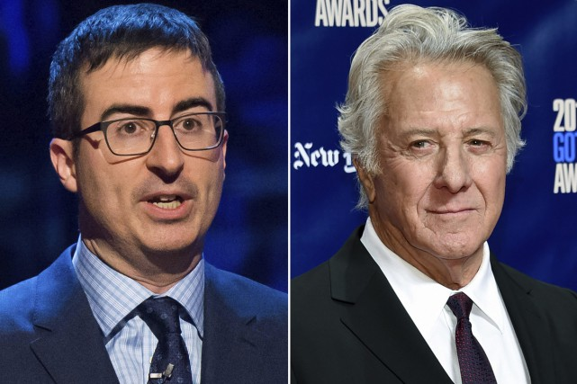John Oliver et Dustin Hoffman.... (Photo archives AP)