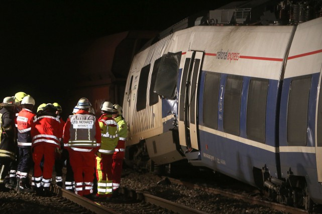 Le conducteur du train de passagers a sans... (PHOTO AFP)