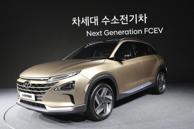 Le nouveau véhicule à hydrogène de Hyundai, peu... (photo : AP)