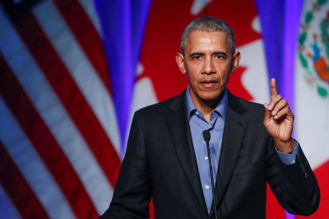 L'ancien président américain Barack Obama... (PHOTO Kamil Krzaczynski, REUTERS)