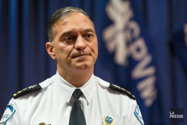Le directeur duService de police de la Ville... (PHOTO SIMON GIROUX, LA PRESSE)
