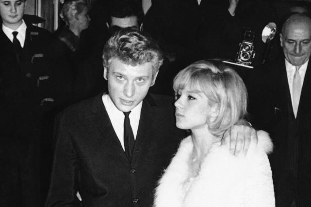 Johnny Hallyday et Sylvie Vartan à Paris en... (Photo archives AP)