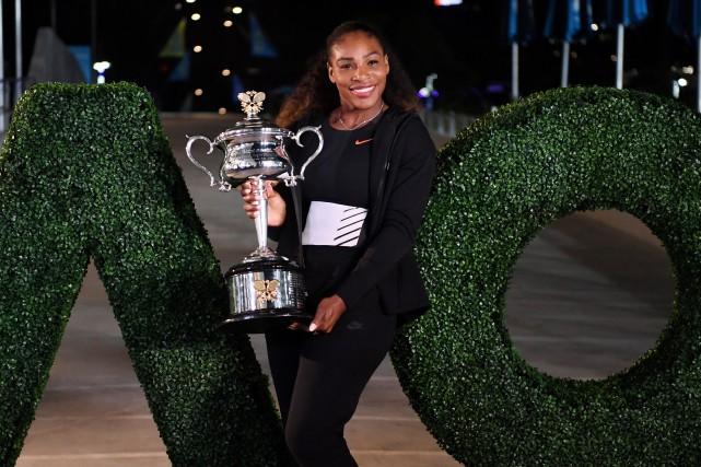 Serena Williamsa remporté les Internationaux d'Australie pour la... (Photo Saeed Khan, archives AFP)