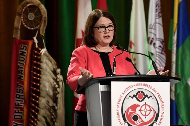 La ministre des Services aux Autochtones, Jane Philpott... (Photo Justin Tang, LA PRESSE CANADIENNE)