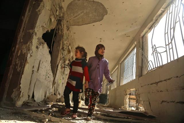Lancée en 2015, l'intervention militaire russe en Syrie... (Photo AFP)