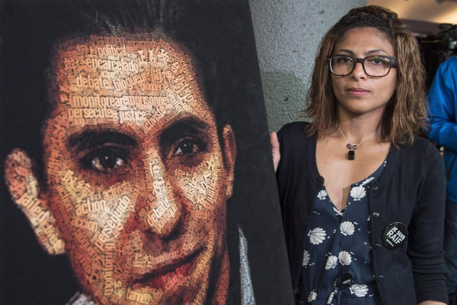 La femme de Raïf Badawi, Ensaf Haidar.... (Photo Paul Chiasson, archives PC)