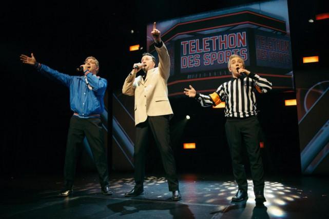 Martin Héroux, Benoit Paquette et Marc St-Martin recréent... (Photo fournie par le Rideau Vert)