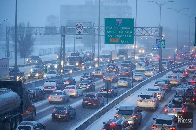 Près de 20 cm de neige sont tombés... (André Pichette, La Presse)