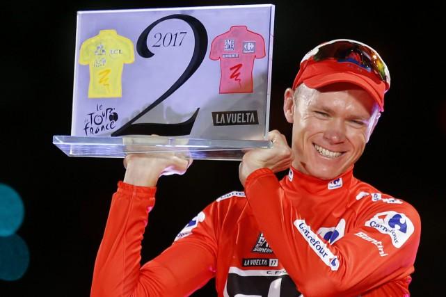 Chris Froome a remporté le Tour d'Espagne en... (Photo Francisco Seco, archives AP)